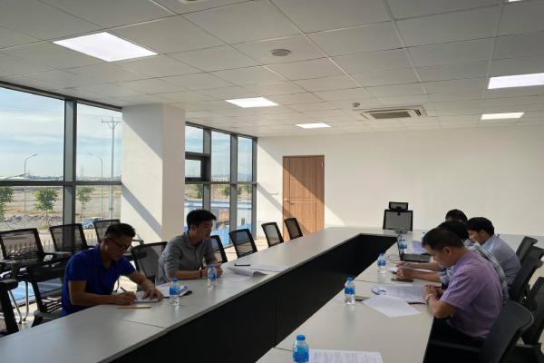 Kiểm tra công tác nghiệm thu công trình: Dự án xây dựng nhà máy sản xuất phụ tùng ô tô địa điểm xây dựng tại lô CN3, Cụm công nghiệp Gia Vân.