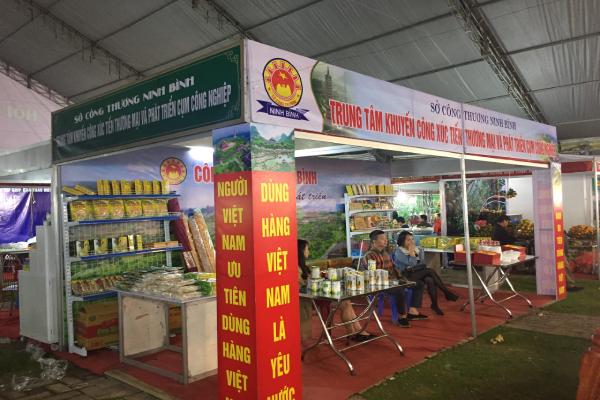 Trung tâm Khuyến công xúc tiến thương mại và phát triển cụm công nghiệp Ninh Bình tham gia gian hàng tại Hội chợ Công nghiệp hỗ trợ và sản phẩm OCOP khu vực đồng bằng sông Hồng – Bắc Ninh 2020