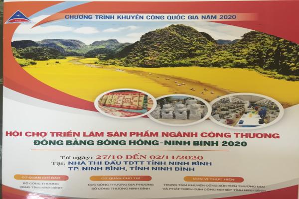 Thông tin Hội chợ triển lãm sản phẩm ngành Công thương đồng bằng Sông Hồng – Ninh Bình năm 2020