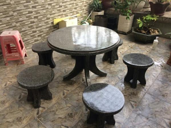 bàn ghế đá 10