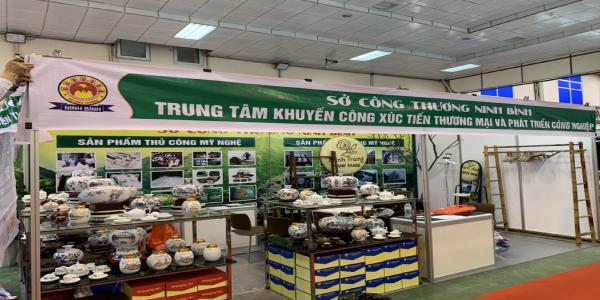 Sở Công Thương Ninh Bình tham gia gian hàng triển lãm tại  Hội chợ HANOI  EXPO 2021
